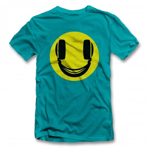 Headphone-Smiley T-Shirt