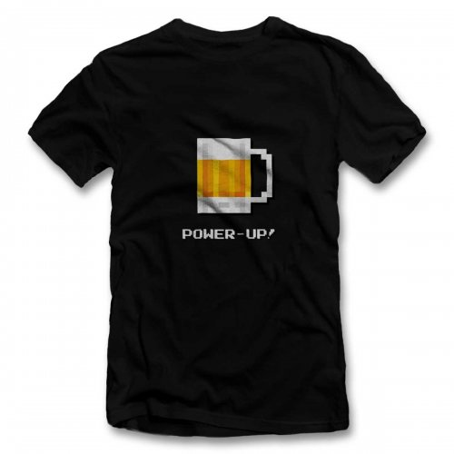 Bierglas Power Up T-Shirt