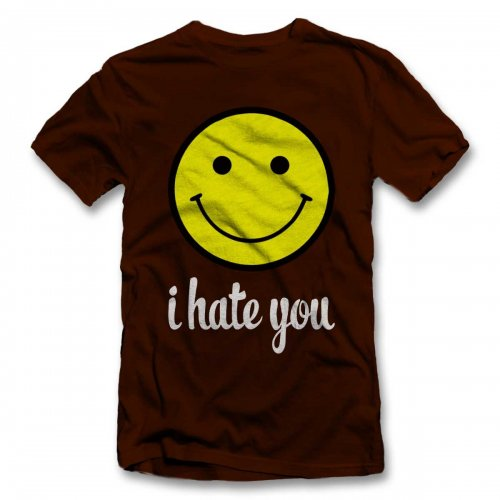I Hate You Smiley T-Shirt