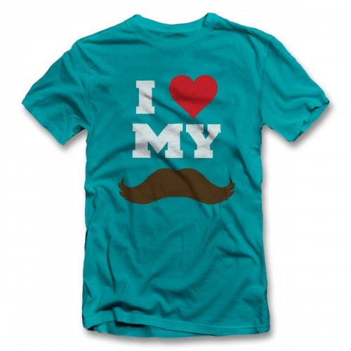 I Love My Mustache T-Shirt
